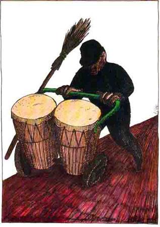 BALLADE APATRIDE album Cheikh Sidi Bémol; dessin d'Elho